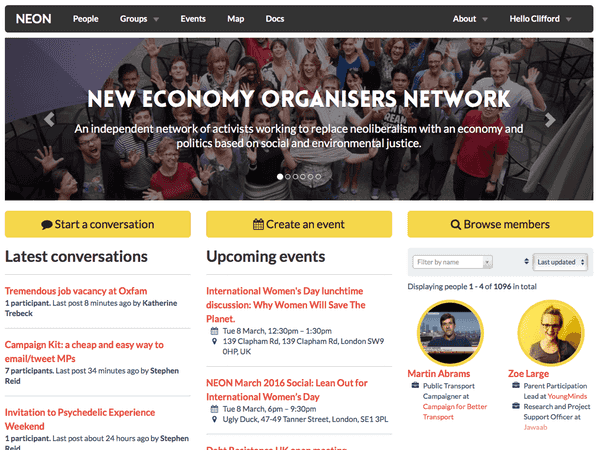 New Economy Organisers Network